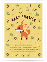 Little Fox Baby Shower Invitations