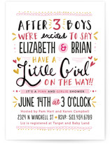 All Things Girlie Baby Shower Invitations