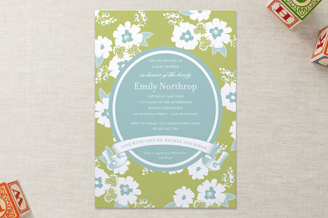 Sweet Florals Baby Shower Invitations