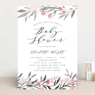 Little Flowers Baby Shower Invitations