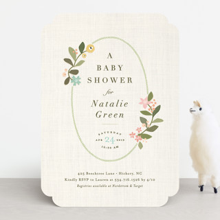 novel tradition baby shower invitations by jennife minted