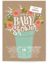 Special Delivery Bouquet Baby Shower Invitations