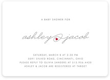 Baby Love Baby Shower Invitations
