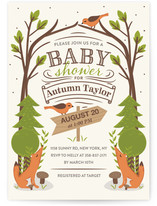 In the Woods Baby Shower Invitations