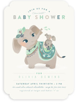 Sweet Elephant Shower Baby Shower Invitations