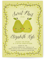 Sweet Pair Baby Shower Invitations