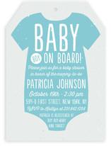 Baby Boy on Board Baby Shower Invitations