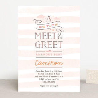 Petite Meet & Greet Baby Shower Invitations