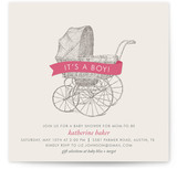 Vintage Carriage Baby Shower Invitations
