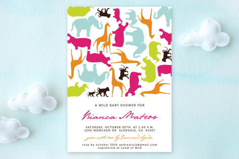 Wild Baby Baby Shower Invitations