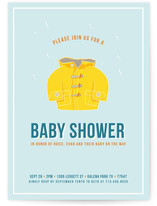 Baby Raincoat Baby Shower Invitations