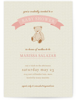 Teddy Nostalgia Baby Shower Invitations