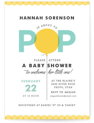 Bright Balloon Baby Shower Invitations