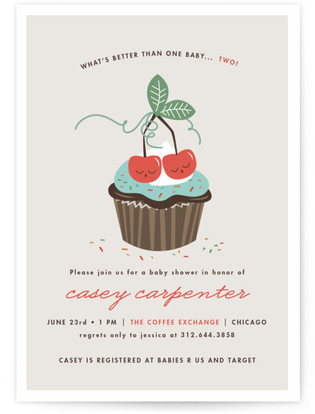 A Sweet Pair Baby Shower Invitations