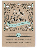 Botanical Balance Baby Shower Invitations