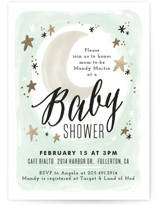 Moonlit Baby Shower Invitations