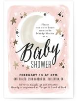 Moonlit Baby Shower Invitations