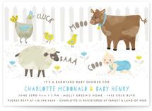 Barnyard Baby Shower Baby Shower Invitations