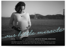Our Little Miracle Baby Shower Invitations