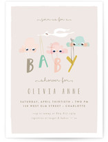 Happy Clouds Baby Shower Invitations