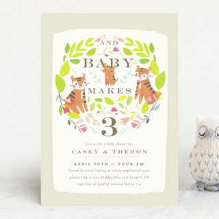 Jungle Tigers Baby Shower Invitations