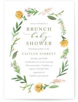 English Garden Baby Shower Invitations