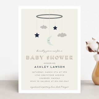 Night Sky Mobile Baby Shower Invitations