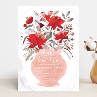 Blossom Vase Baby Shower Invitations