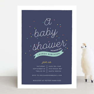 Rainbow Sprinkles Baby Shower Invitations
