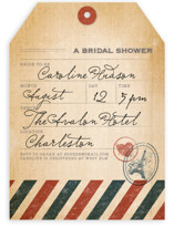 Vintage Pack Your Bags Bridal Shower Invitations