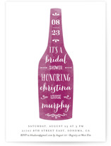 Winery Bridal Shower Invitations