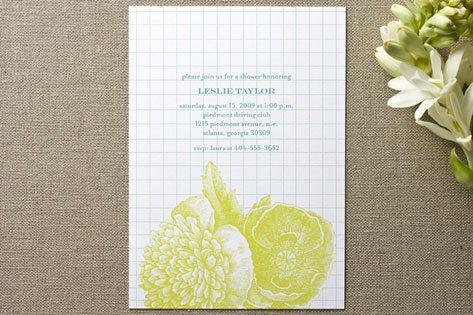 Bibliotheque Bridal Shower Invitations