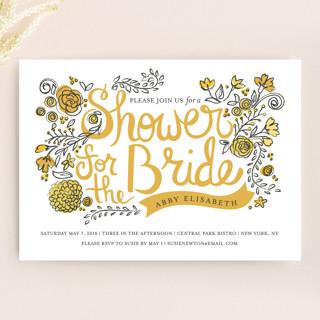 Wild Garden Bridal Shower Invitations