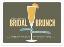 Fresh Mimosa Bridal Shower Invitations
