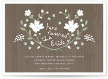 Rustic Wildflowers Bridal Shower Invitations