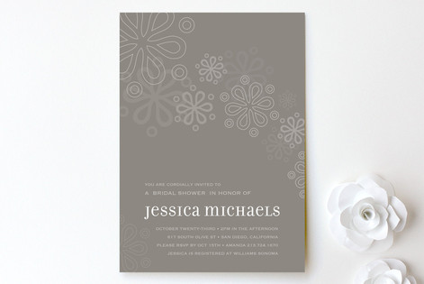 Cascading Bridal Shower Invitations