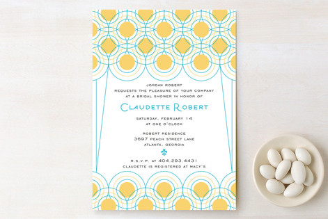 Deco Lights Bridal Shower Invitations