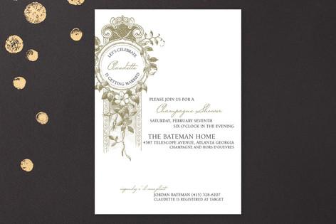 French Champagne Bridal Shower Invitations