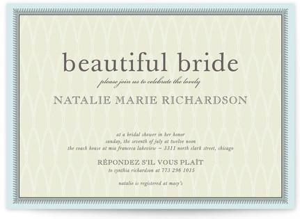 float framed Bridal Shower Invitations
