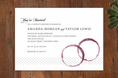 Vino Bridal Shower Invitations