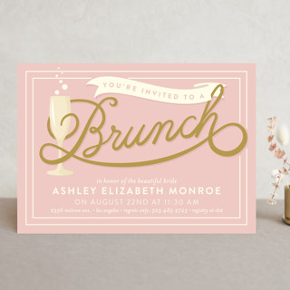 Brunch Bridal Shower Invitations is an amazing ideas you had to choose for invitation design