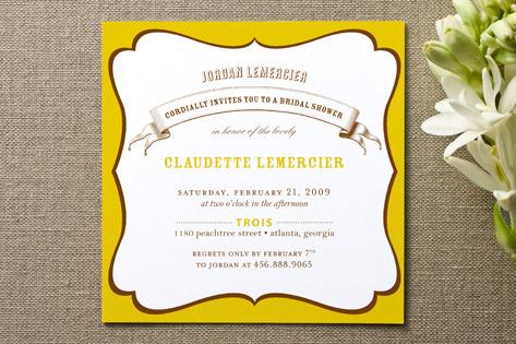 La Fete Bridal Shower Invitations