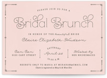 Blushing Brunch Bridal Shower Invitations
