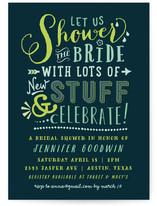 Shiny New Stuff Bridal Shower Invitations