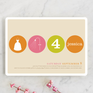 Polka Dot Bridal Shower Invitations
