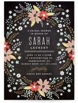 Chalkboard Floral Bridal Shower Invitations