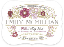 Country Florals Bridal Shower Invitations