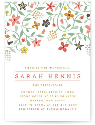 Botanical Affair Bridal Shower Invitations