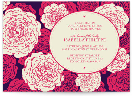 Sweetly Florals Bridal Shower Invitations