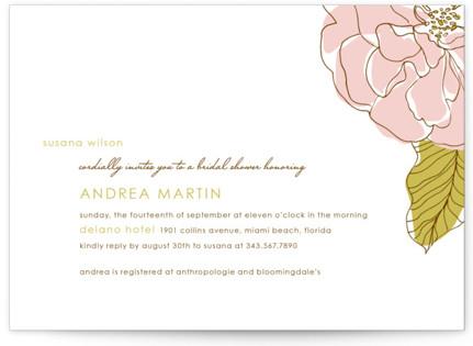 Simple Sophisticate Bridal Shower Invitations